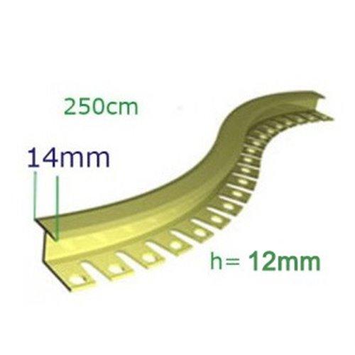 H12 Teownik mosiężny matowy do łączenia podłóg o wysokości 12mm
