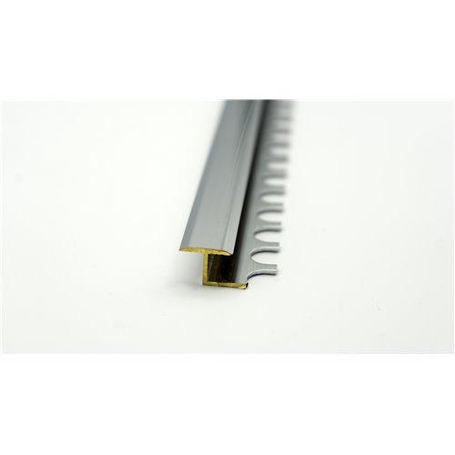 Teownik ze stopką do łuków łączący płyki z panelem mosiądz chromowany