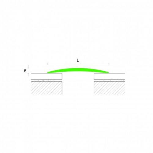 Profil łączący PROCOVER GB nawiercany srebro - aluminium anodowane