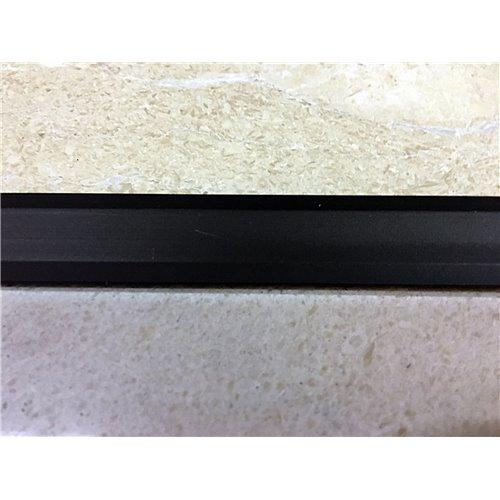 Teownik aluminiowy czarny