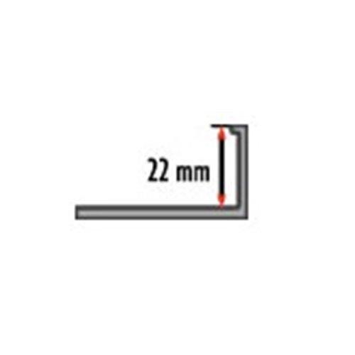 22mm Listwa L aluminium do płytek/marmuru/parkietu