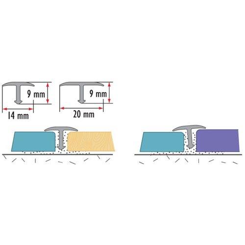 Teownik gładki owalny 14 mm