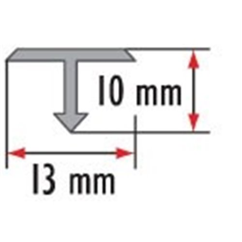 Teownik czarny 13 mm/18 mm/26 mm aluminiowy