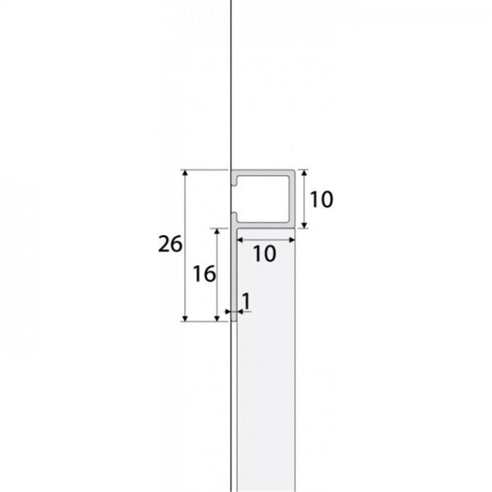 Profil DPK - Listwa glazurnicza - flizówka - aluminium anodowane - czarny