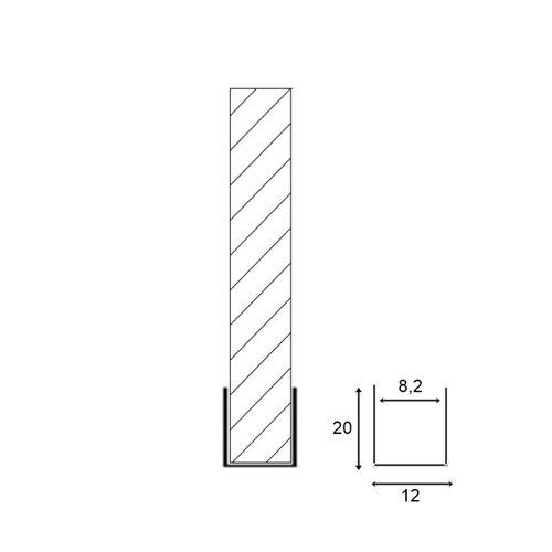 Profil US - mosiądz chromowany - przeznaczony do obsadzania tafli szkła