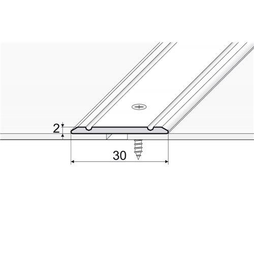 A02 Listwa łączeniowa płaska 30 mm nawiercana