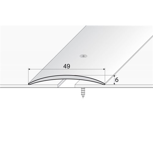 A04 Listwa łączeniowa owalna 49 mm nawiercana
