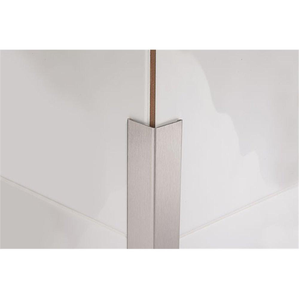 Kątownik stalowy PROCORNER M 270 cm satynowany frezowany