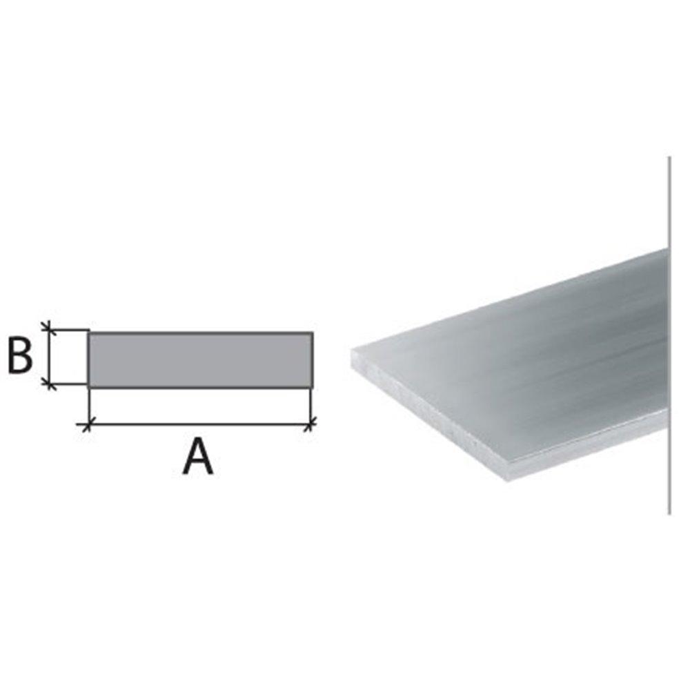 20x6x1000mm płaskownik aluminium naturalne