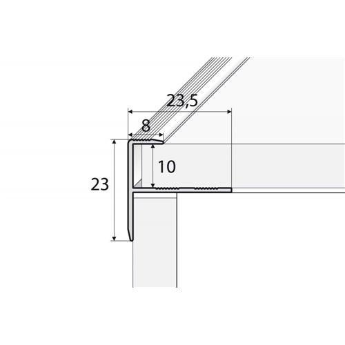 PROFIL SCHODOWY DO GLAZURY - A85