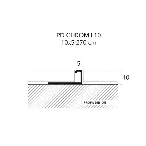 Listwa narożna PD CHROM 5 mm