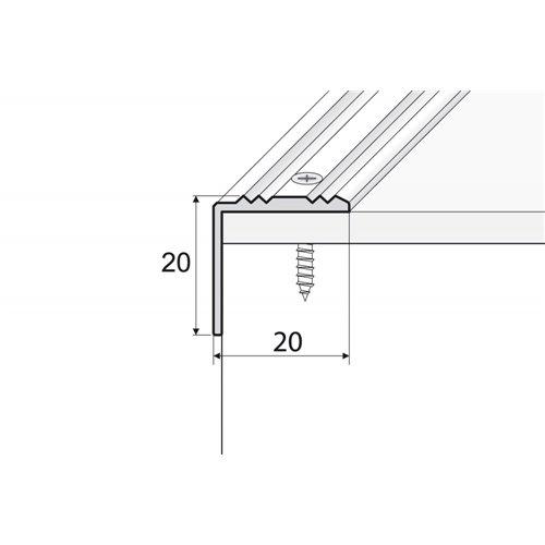 A30 20x20mm kątownik aluminiowy schodowy