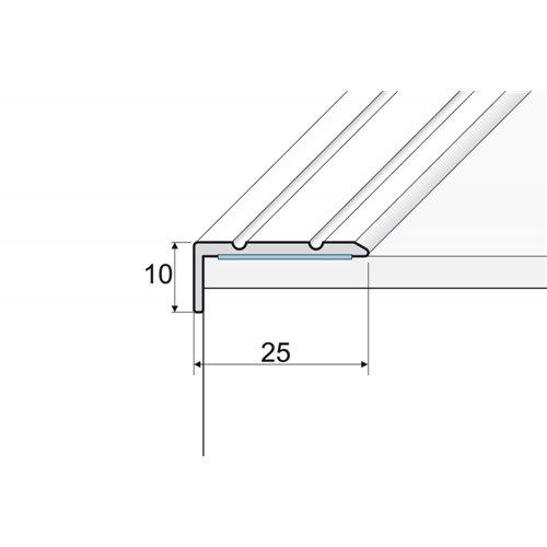 A31 10x25mm kątownik aluminiowy schodowy
