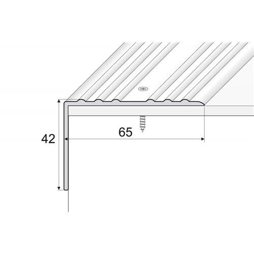 A32 42x65mm kątownik aluminiowy schodowy